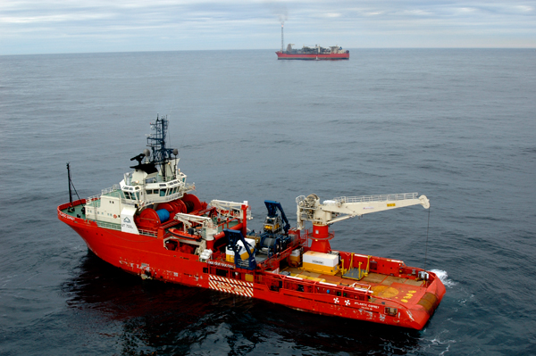 The support vessel Osprey operating near the SeaRose FPSO