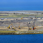 Construction of the graving dock in Argentia, Newfoundland and Labrador, to support the West White Rose Extension Project.
