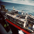 Aerial view of the SeaRose FPSO