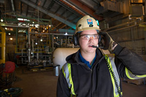 Employee at the Rainbow Lake Processing Plant