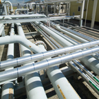 Pipelines at Hussar facility