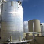 Storage tanks at Crowsnest ASP Project