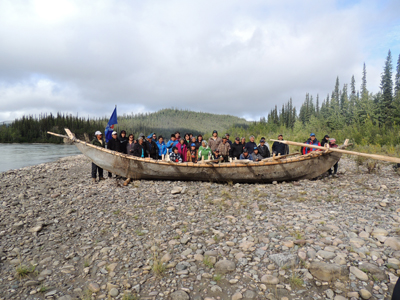 Husky was the lead sponsor of the moose skin boat project with the community of Tulita