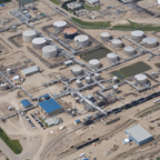 Aerial view of the Lloydminster Asphalt Refinery