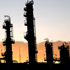 Lima Refinery during sunset