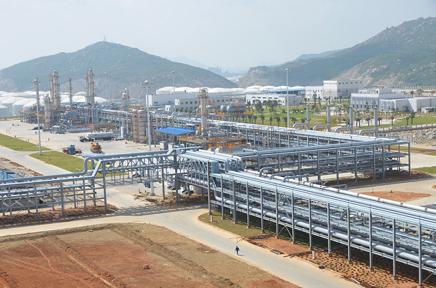 Natural gas treatment at the Gaolan Gas Terminal (Liwan Project) - Fall 2013